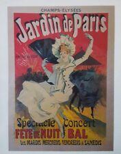 FASHION GIRL JARDIN DE PARIS CONCERT 1890 FRENCH VINTAGE arthur Kaplan Litho