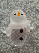 """Swarovski 1 1/2"""" Snowman Collection Clear Crystal Beautiful Condition No Box"""