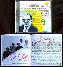 KREMER, HAGEN Signed SHOSTAKOVICH Symphony 15 SCHNITTKE Prelude CD Gidon Clemens