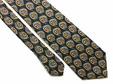 FENDI Cravatta Seta Uomo Elegance Optical Silk Man Tie With Tag