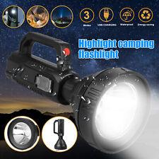 Rechargeable LED Searchlight Portable Super Bright Handheld Spotlight Flashlight