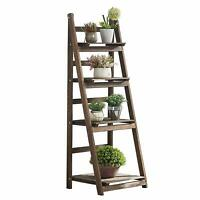 Foldable Ladder Shelf,Planter Stand Indoor,A Frame Stand with Shelves,4 Tier
