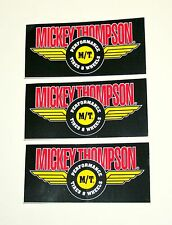 "3 Nascar NHRA Mickey Thompson Performance Tires Wheels 4.5"" Sticker Set NOS"