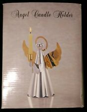 Silver Gold Plated Angel Candleholder
