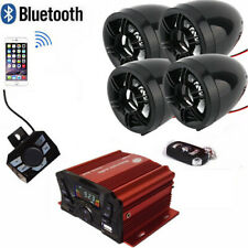 Bluetooth Wireless Speakers Audio System Stereo MP3 Radio ATV  Scooter Marine