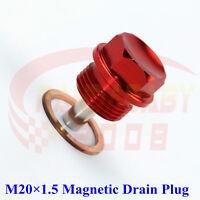 JDM M20X1.5 ENGINE MAGNETIC OIL PAN DRAIN PLUG BOLT M20 CRUSH BRASS WASHER RD