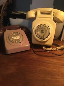 BT Rotary Telrphone 746 And Wall Mounted Phone 711