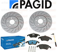 PAGID Brake Kit  Rotors+ Pads Mercedes with Sport Package C350 E250 E350 E400