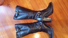 Stivale donna pelle Geox nero num 35 usati con zip laterale