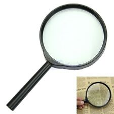 5X 100mm Hand Held Reading Magnifier Magnifying Glass Lens Jewelry Loupe Zoomer
