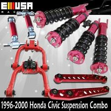 Honda Civic 96-00 Full Coilover Suspension NON adj.Camber Kits COMBO RED