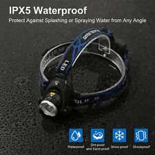 Head Torch 6000Lm T6 Zoomable Cree XML LED Rechargeable Headlamp Headlight IPX5