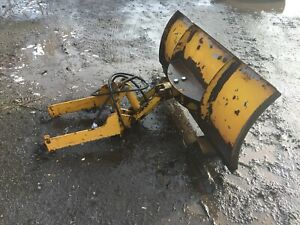 compact tractor snow plough