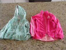 Toddler Girls Adidas Jackets Lot of 2 Size 3T Fair Condition