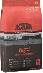 ACANA Grain-Free Red Meat Heritage Grass-Fed Beef, Pork Lamb Dry Dog Food, 25 lb