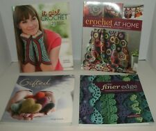 LOT of 4 CROCHET BOOKS: Finer Edge / It Girl /at Home/ Gifted *Accessories Gifts