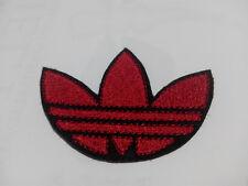 Parche bordado para coser estilo Adidas 7,5/5,5 cm adorno ropa personalizada