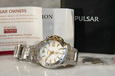 Pulsar Kinetic Men's Dive Watch, Exhibition Case, Embossed Date Dial YT57-X039