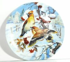 Collection Plate Hutschenreuther Birds Seidenschwänze IN Beerenstrauch Certified