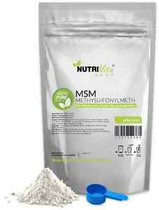 1.1 lb (500g) NEW 100% PURE MSM POWDER JOINT PAIN & ARTHRITIS RELIEF