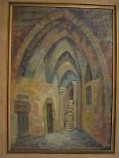 "Claire Szilard Excellent oil ""Old Jaffa"" Hungarian born Jewish Israel to $1600."