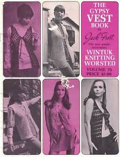 Jack Frost THE GYPSY VEST BOOK Vol 75 Vintage 1969 Knitting Patterns Mod Hippy