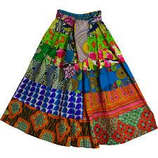 Women's African Ethnic Print Cotton PATCHWORK Flared Long Maxi Skirt Assortment