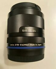 Zeiss Loxia Planar 50mm f2 for Sony E mount. Lens Hood, ND Filter.