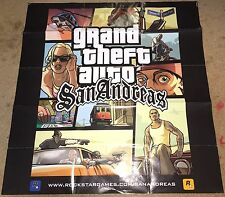XBOX PS2 * GRAND THEFT AUTO SAN ANDREAS MAP AND POSTER - MAP ONLY - GTA