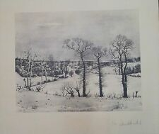 Albert DRACHKOVITCH-THOMAS photogravure paysage signée  Yougoslavie P201
