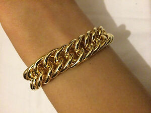 "15mm 8"" Chunky 18K Gold Plated Link Bracelet Mens Girl Anklet Christmas Present"