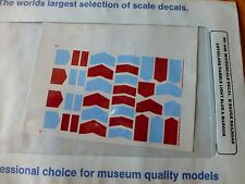 Microscale Decal N  #60-449 Light Blue & Maroon Anti-Glare Panels