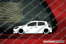 2x LOW Renault Clio sport RS 197 (MK3) lowered car outline stickers
