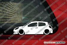 2x bas renault clio sport rs 197 (MK3) abaissée voiture outline stickers