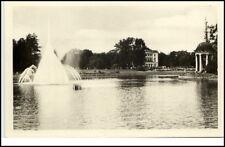 Markkleeberg Sachsen DDR Postkarte ~1954 Landwirtschaft Ausstellung See Park