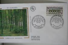 ENVELOPPE PREMIER JOUR SOIE 1991 CONGRES FORESTIER