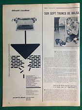 AM87 Pubblicità Advertising Clipping 35x14 cm (1954) OLIVETTI LEXIKON macchina