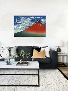 "Japan Framed Canvas Vintage katsushika hokusai mt fuji painting art print  28"""