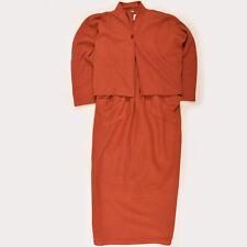 Masai Damen Kleid Dress Maxikleid Gr.L (40) Kombi Set Fleece Bolero Orange 86176