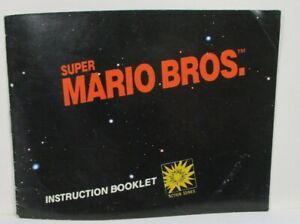 Vintage NES Nintendo Instruction Manual Booklet Super Mario Bros 1985