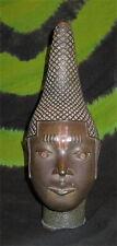"""16"""" Bronze Iyoba Idia BUST Statue HEAD FACE MASK ART Nigerian Queen African BMPL"""