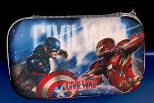 Marvel Civil War Captain America Hard Shell School Pencil Case Pouch Free Ship!