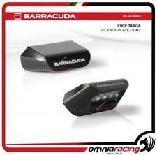 Barracuda Luce targa Universale Omologata per portatarga colore nero