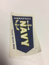 Post's Raisin Bran Cloth Patch Annapolis Navy
