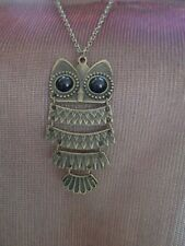 """Jewelled Cute Owl Wiggle Pendant and 26"""" Long Chain"""