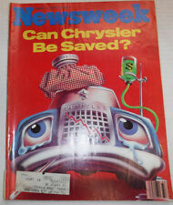 Newsweek Magazine Can Chrysler Be Saved August 13, 1979 101016R