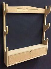 Scoped gun rack with lockable cupboard for 3 guns & baize Fully Assembled C12