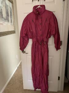 Vintage DESCENTE Women's SKI SUIT Size 8, Magenta, used, excellent condition