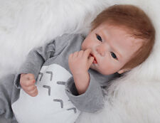 "22"" Handmade Lifelike Baby Silicone Vinyl Boy Girl Reborn Toddler Newborn Dolls"