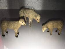 Creche  santons DEVINEAU moutons floqués